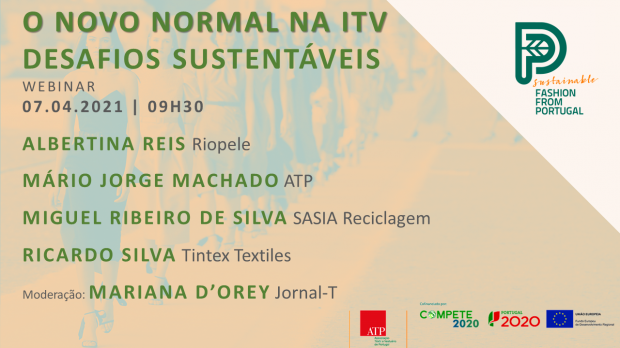 "ATP ORGANIZES WEBINAR  ""THE TEXTILE AND CLOTHING INDUSTRY'S NEW NORMAL - SUSTAINABLE CHALLENGES"""
